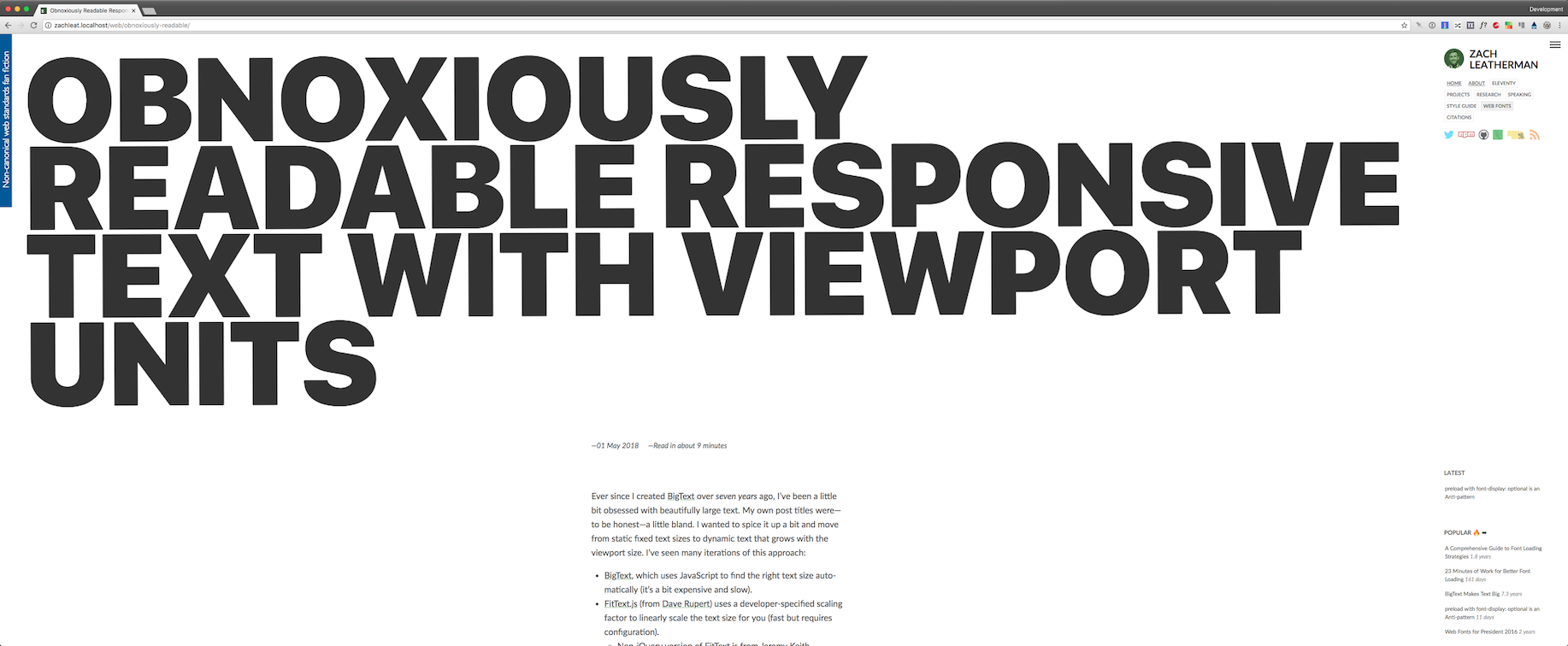 Giant Viewport Preview of the Blog Post Title